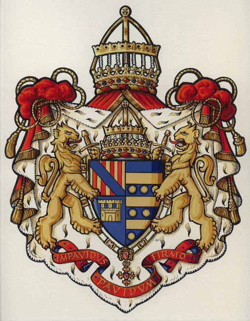 Coat of Arms of the Royal House of Aragon, Majorca and Sicily
